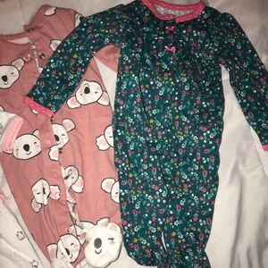 15 baby girl onesies. Worn a few times.